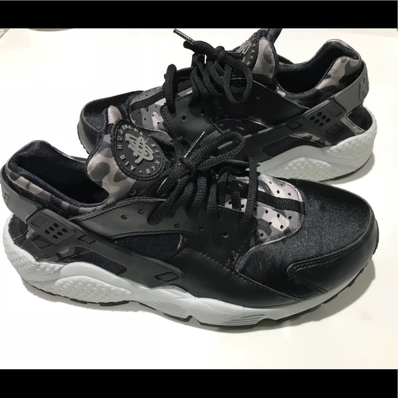 "low priced f647a 53d69 Nike Air Huarache Run Print ""Black/Cool Grey"""